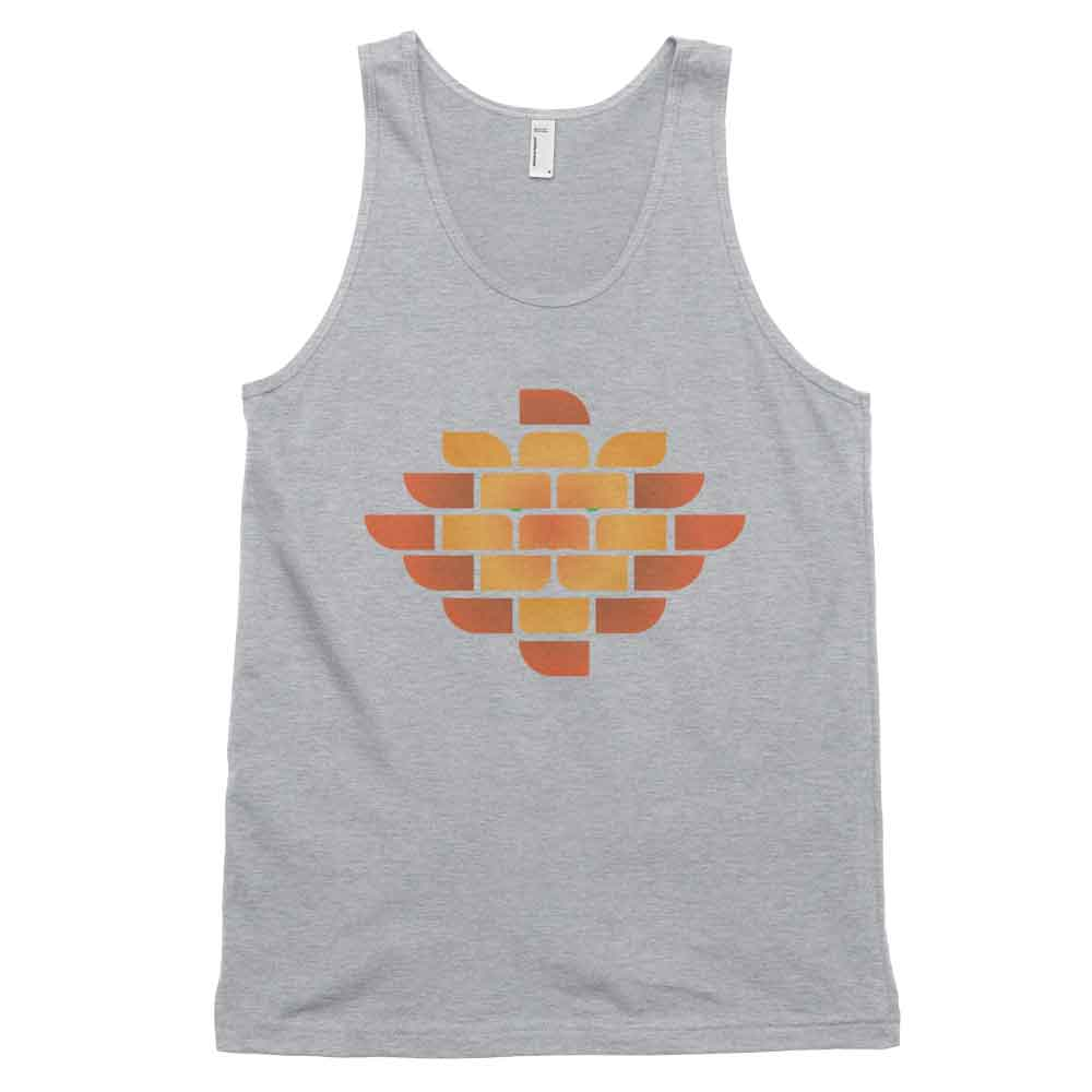Brick Lion Tank - Heather Grey
