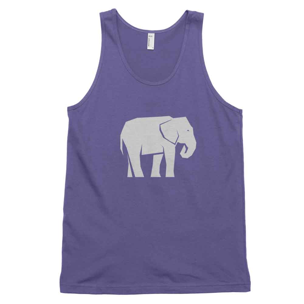 Elephant Habitat Tank - White Purple