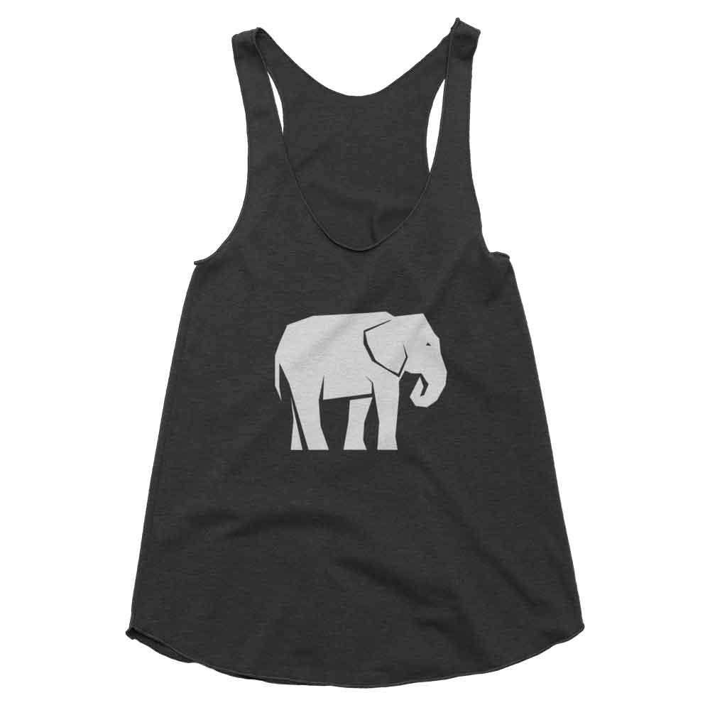 Elephant Habitat Tank Women - Tri-Black