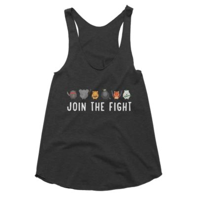 Join the Fight Tank Women - Tri-Black