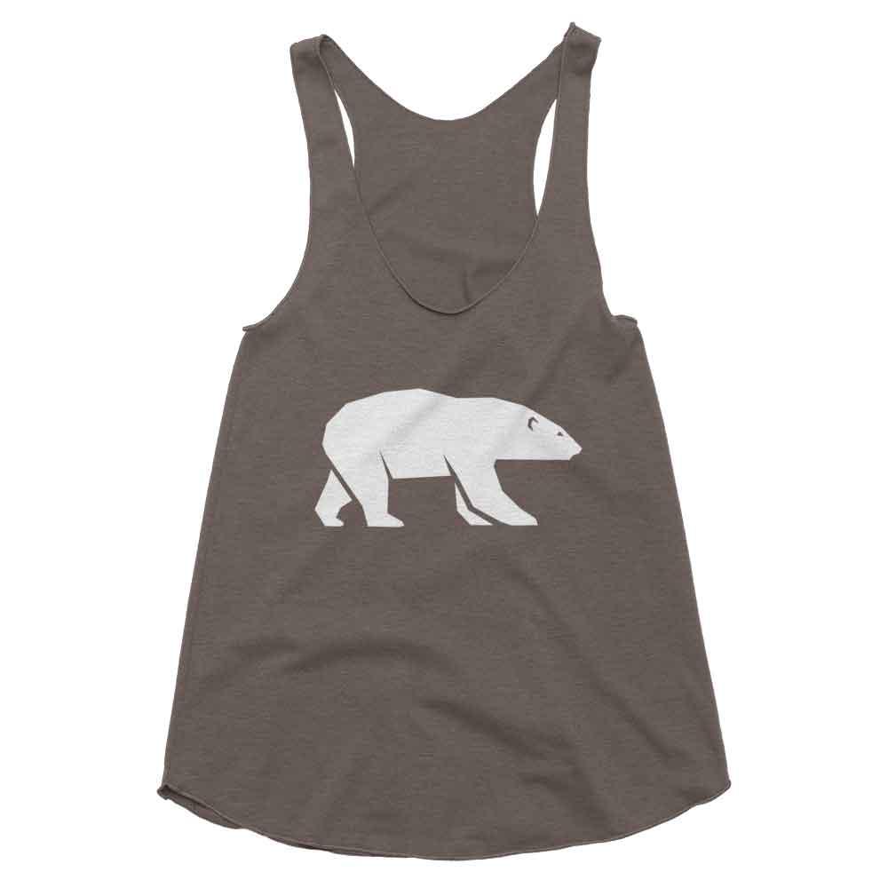 Polar Bear Habitat Tank Women - Tri-Coffee