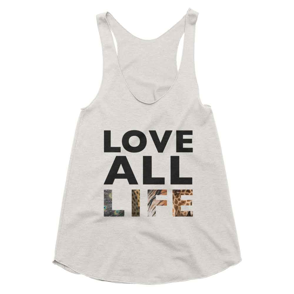 Love All Life Tank Women - Tri-Oatmeal