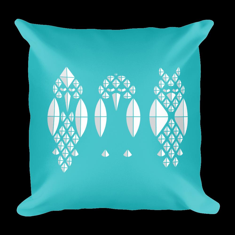 Diamond Birds Pillow - Teal