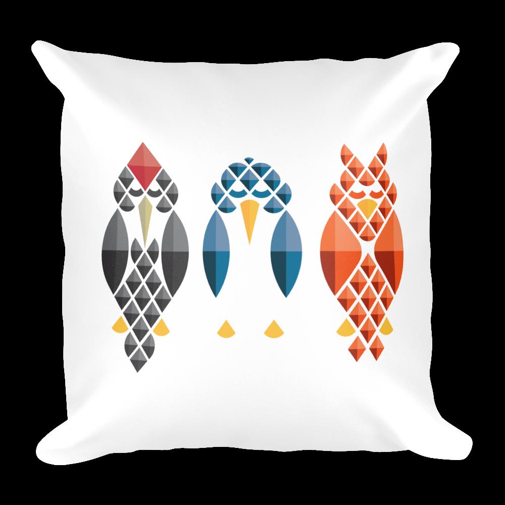 Diamond Birds Pillow - White