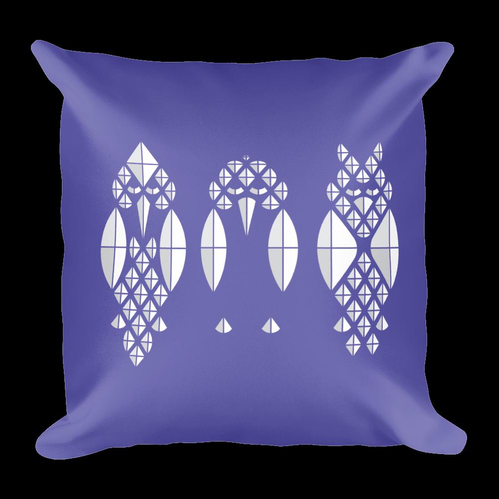 Diamond Birds Pillow - Purple