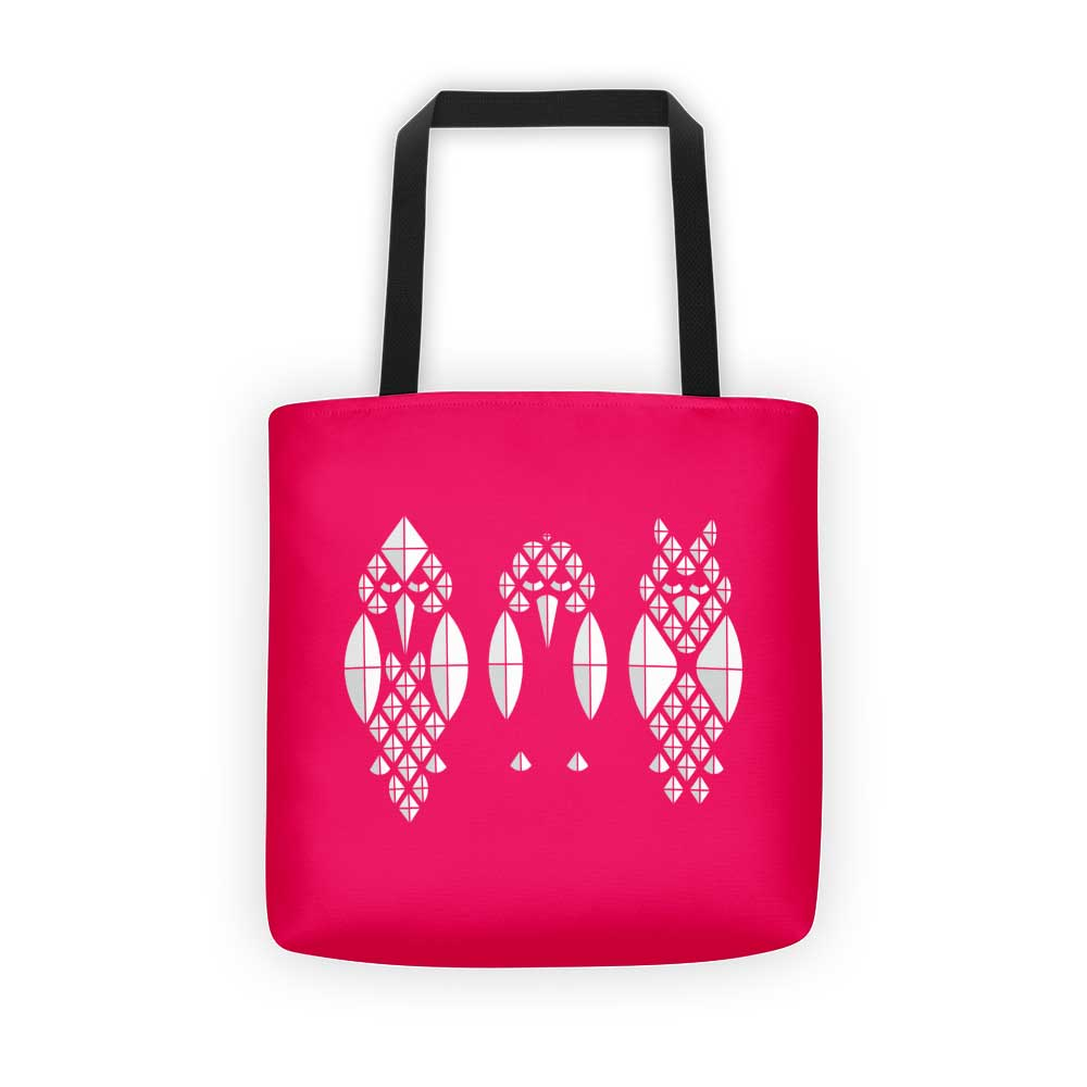 Diamond Birds Tote Bag - Pink