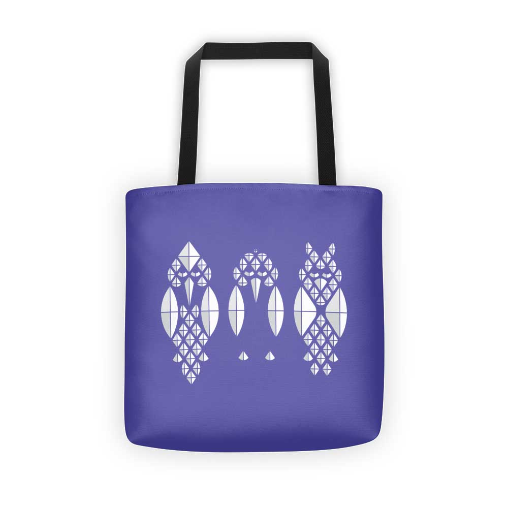 Diamond Birds Tote Bag - Purple