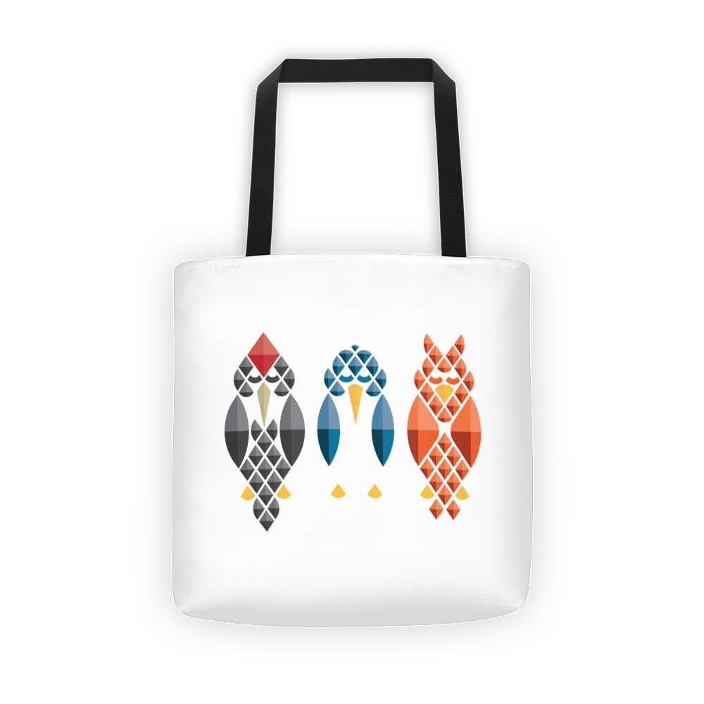 Diamond Birds Tote Bag - White