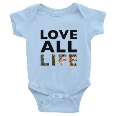 Love All Life Baby Onesie - Baby Blue