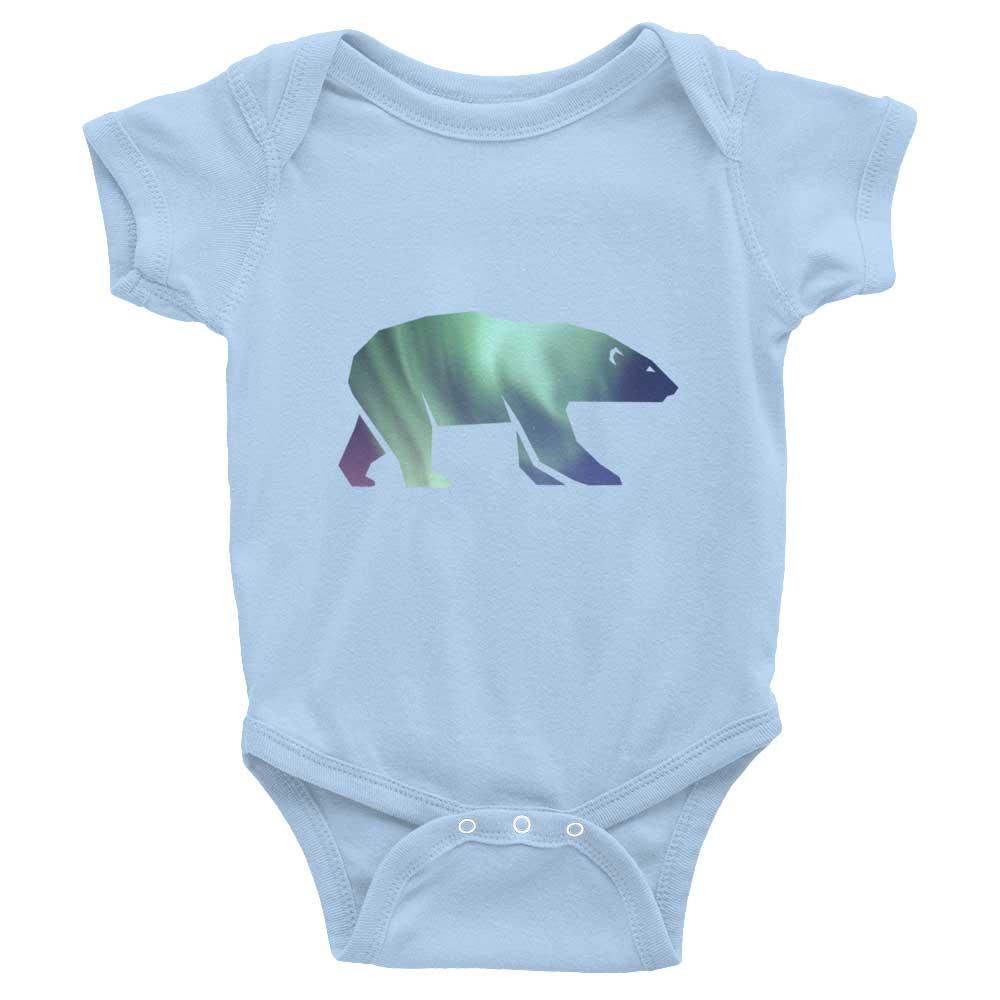 Polar Bear Habitat Baby Onesie - Baby Blue