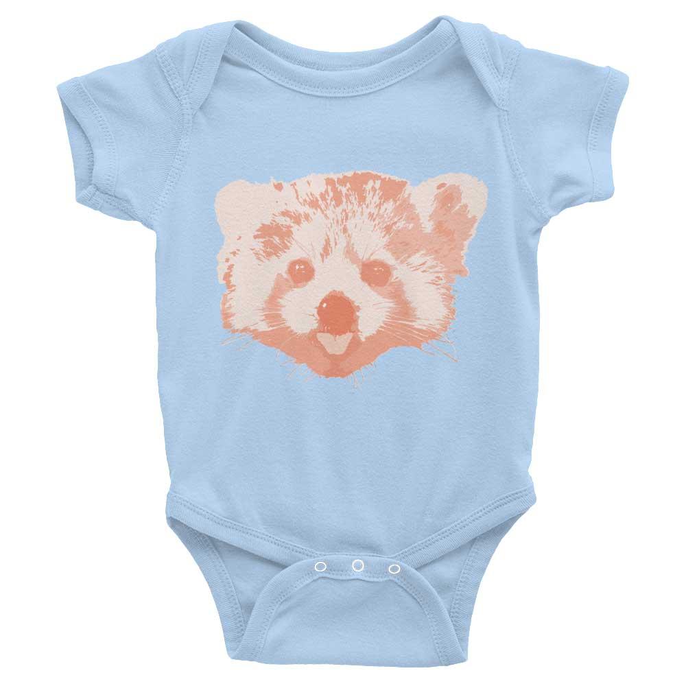 Red Panda Baby Onesie - Baby Blue