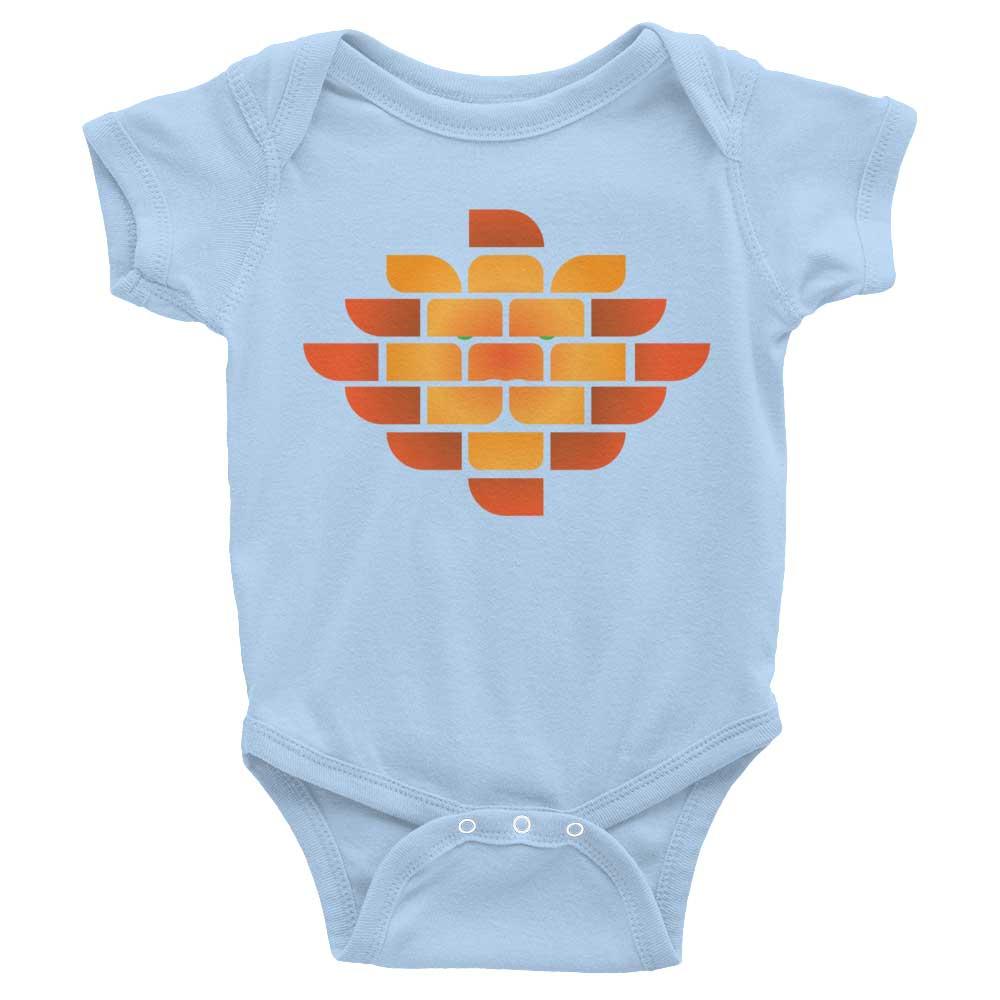 Brick Lion Baby Onesie - Baby Blue