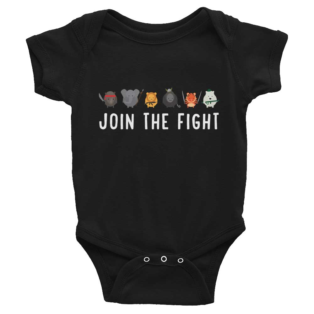 Join the Fight Baby Onesie - Black