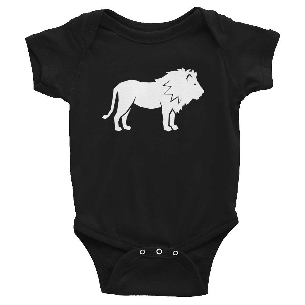 Lion Habitat Baby Onesie - Black