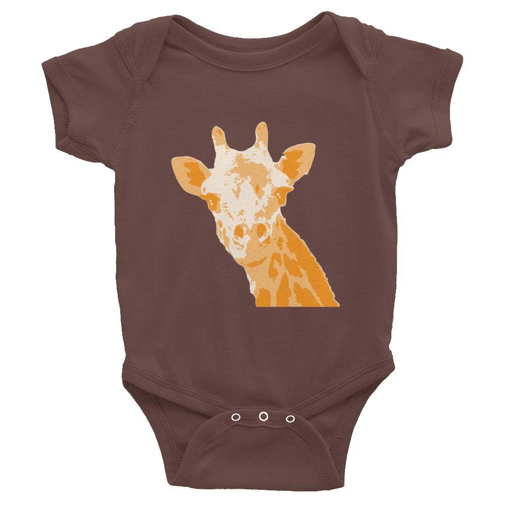 Giraffe Baby Onesie - Brown