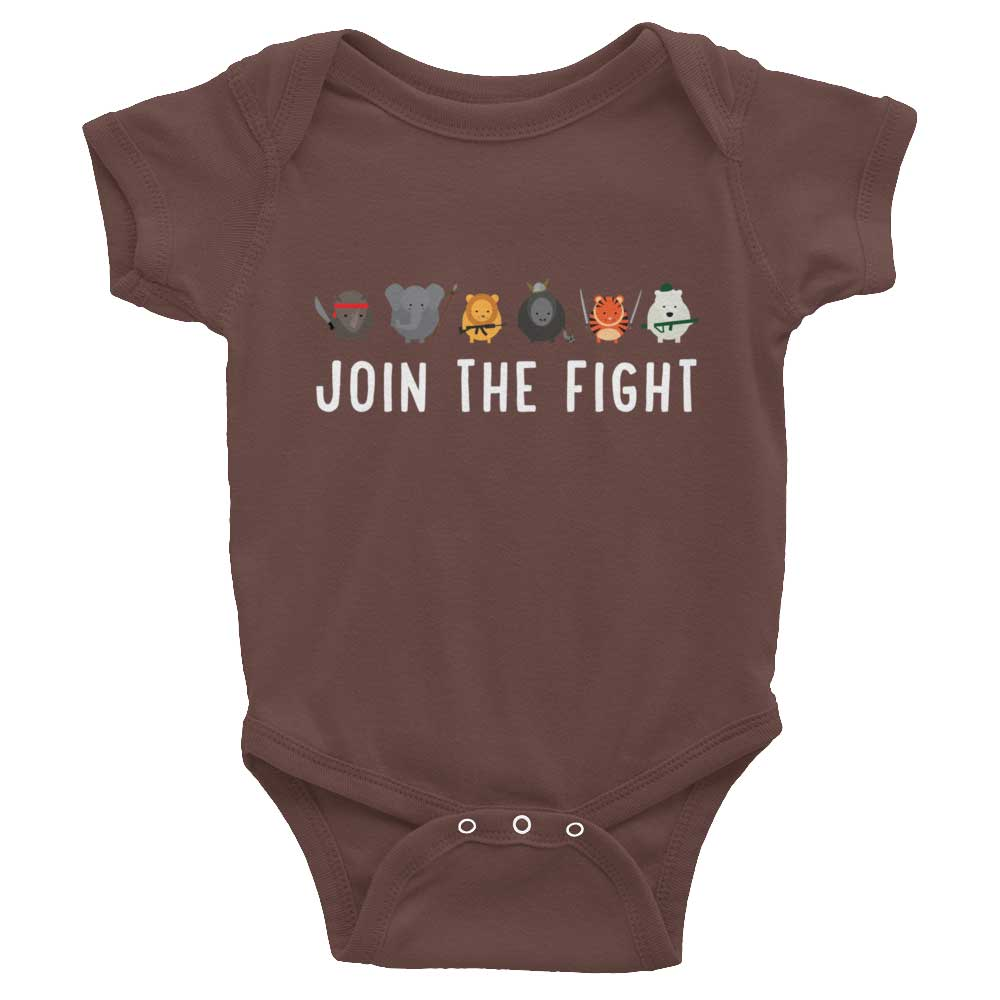 Join the Fight Baby Onesie - Brown