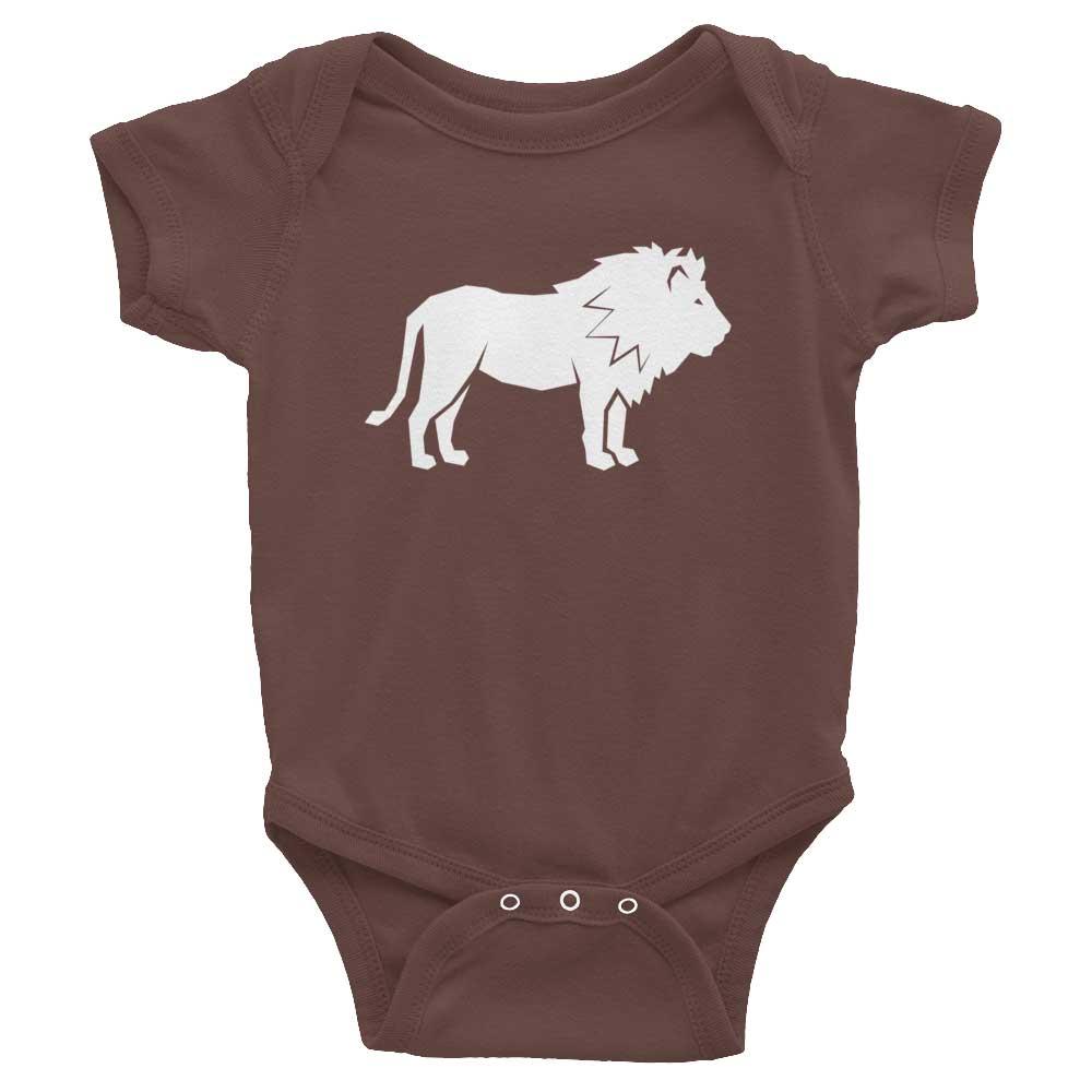 Lion Habitat Baby Onesie - Brown