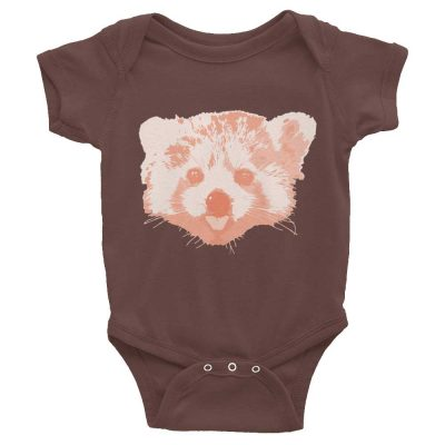 Red Panda Baby Onesie - Brown