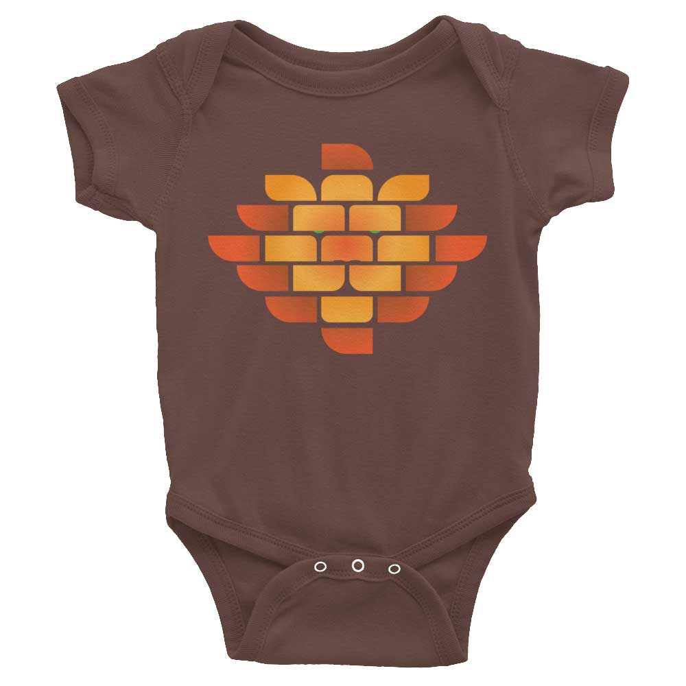Brick Lion Baby Onesie - Brown