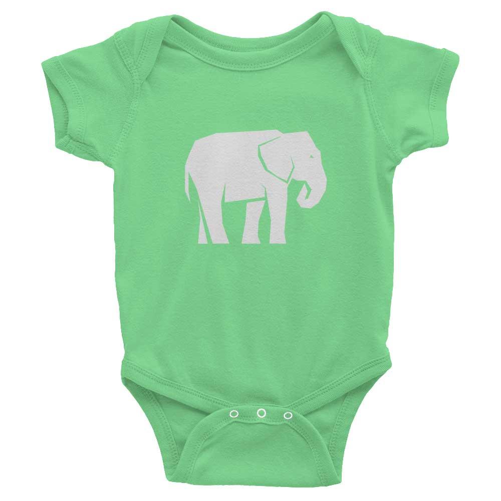 Elephant Habitat Baby Onesie - Grass