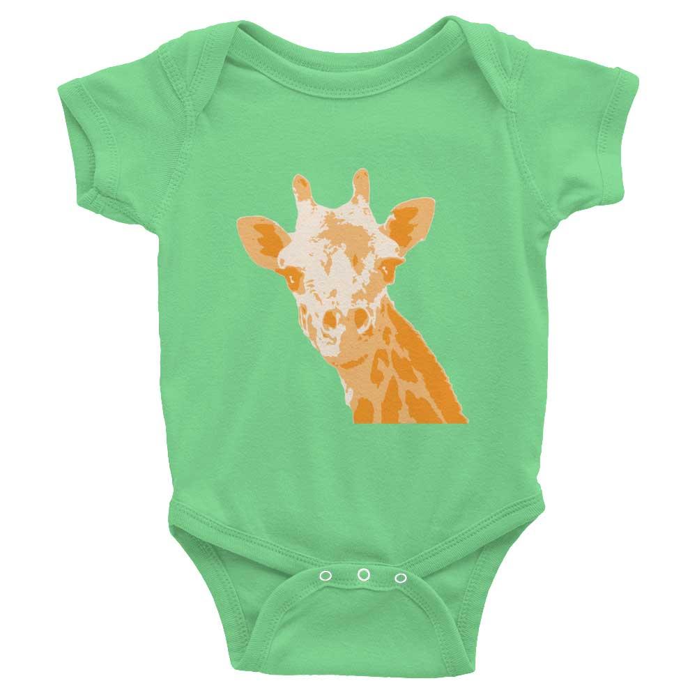 Giraffe Baby Onesie - Grass