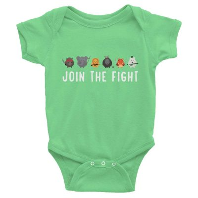 Join the Fight Baby Onesie - Grass