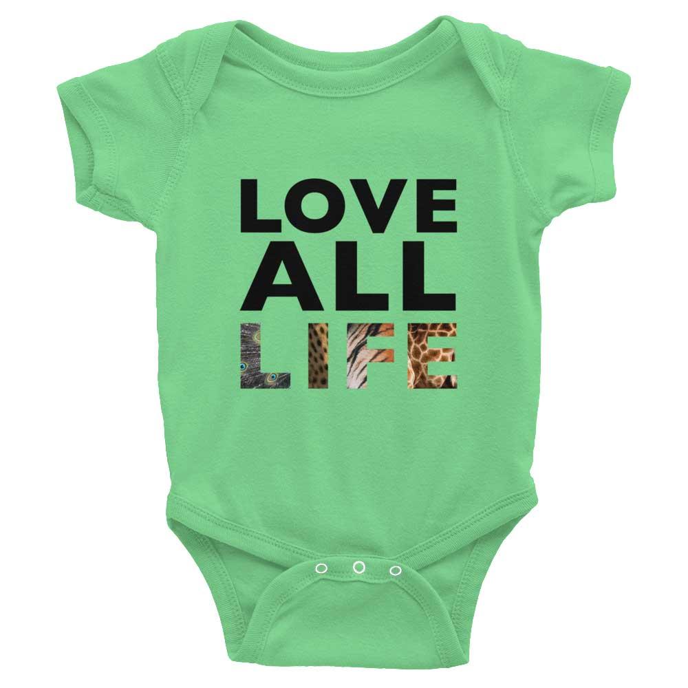 Love All Life Baby Onesie - Grass