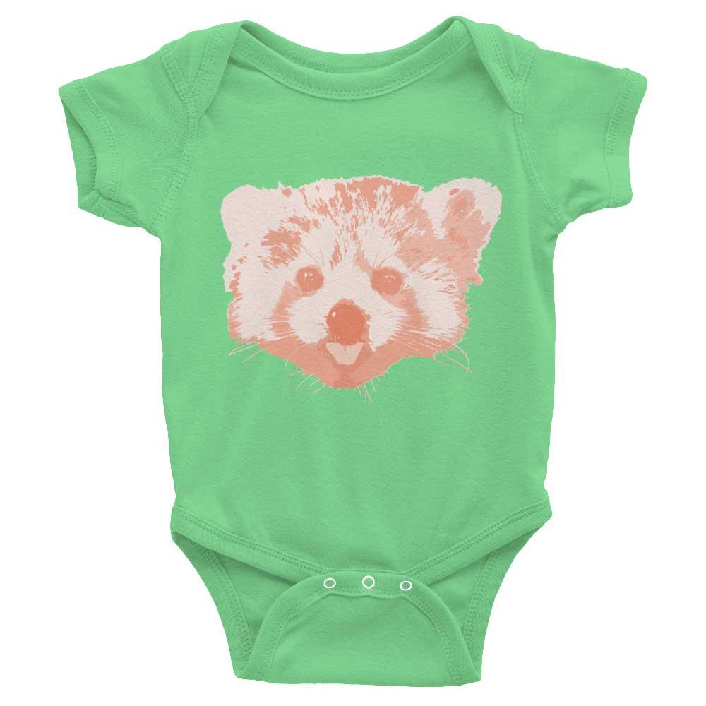 Red Panda Baby Onesie - Grass