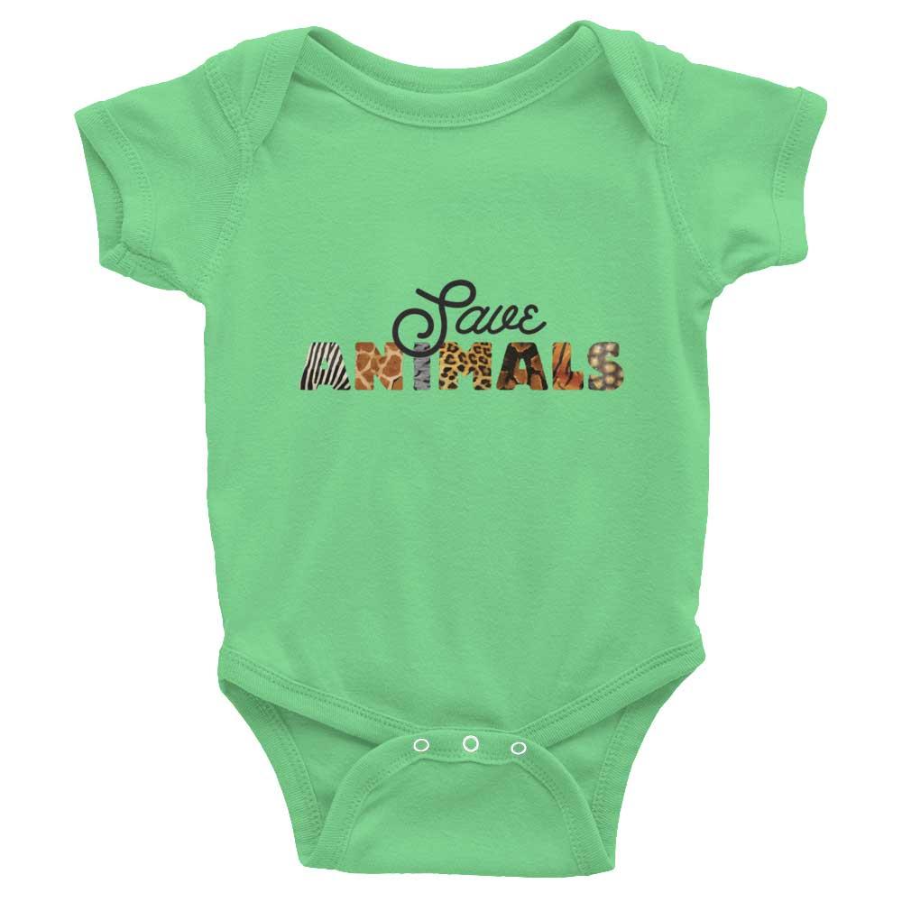 Save Animals Baby Onesie - Grass