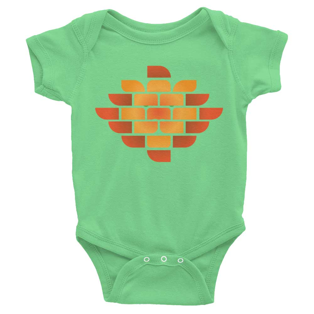 Brick Lion Baby Onesie - Grass