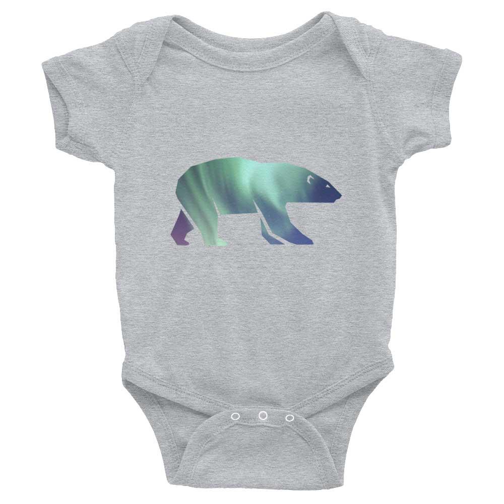 Polar Bear Habitat Baby Onesie - Heather Grey