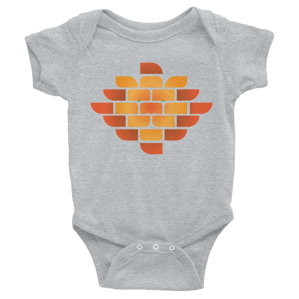 Brick Lion Baby Onesie - Heather Grey