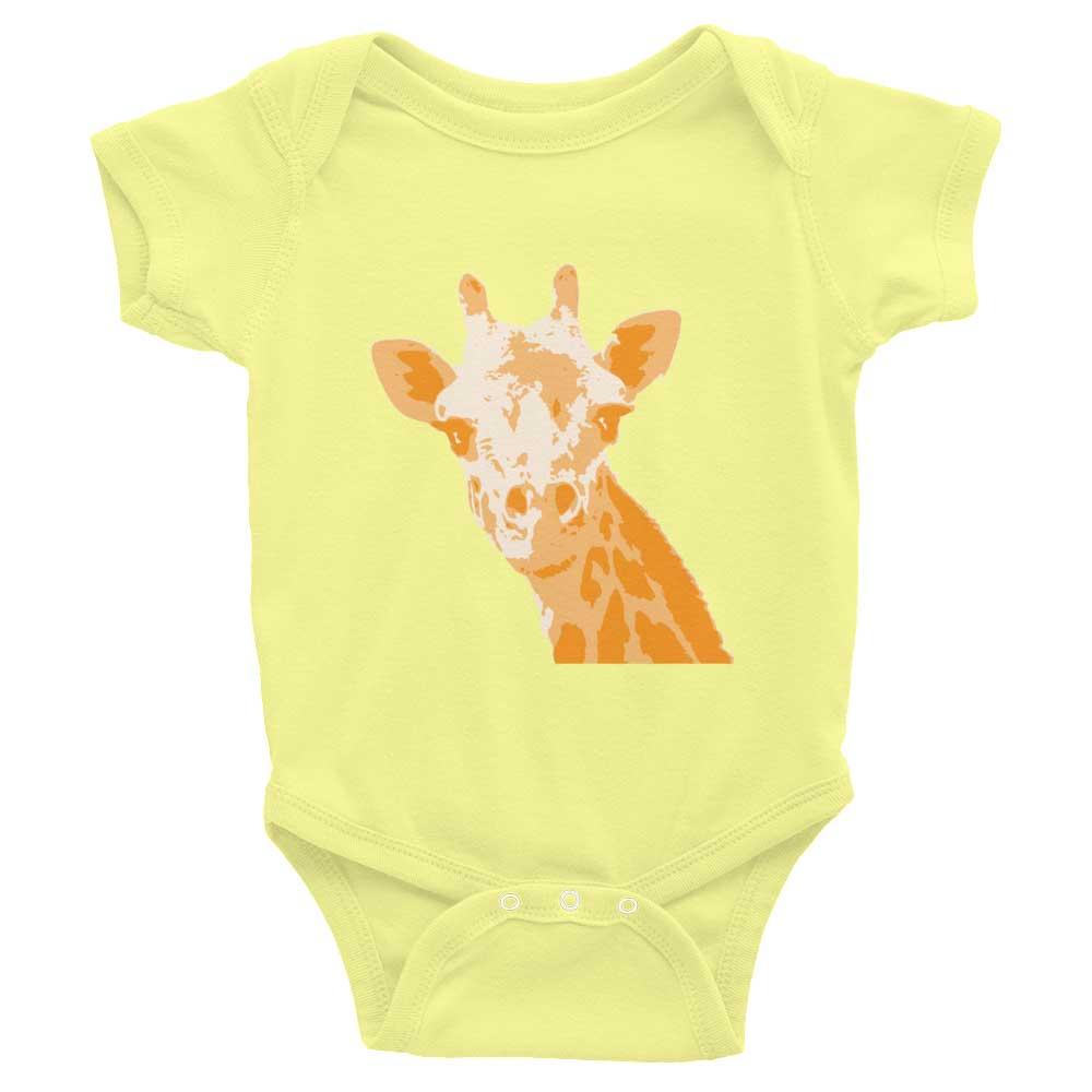 Giraffe Baby Onesie - Lemon