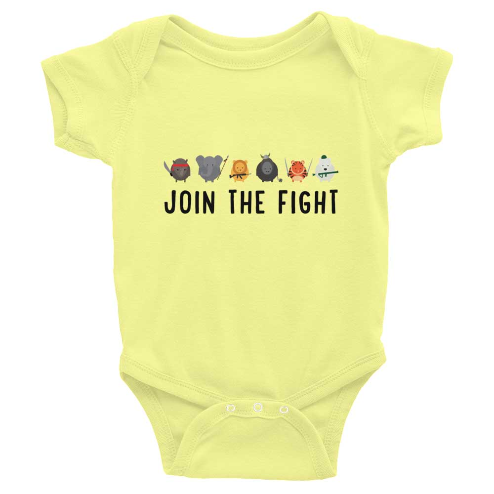 Join the Fight Baby Onesie - Lemon