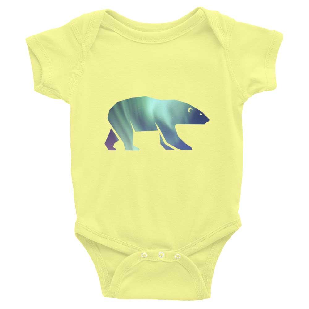 Polar Bear Habitat Baby Onesie - Lemon