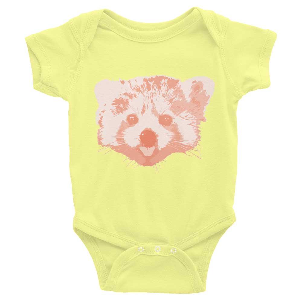 Red Panda Baby Onesie - Lemon