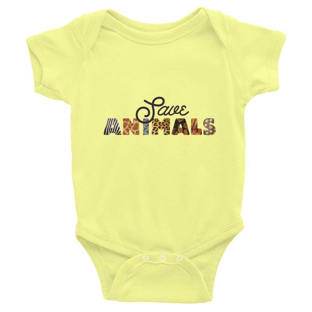 Save Animals Baby Onesie - Lemon