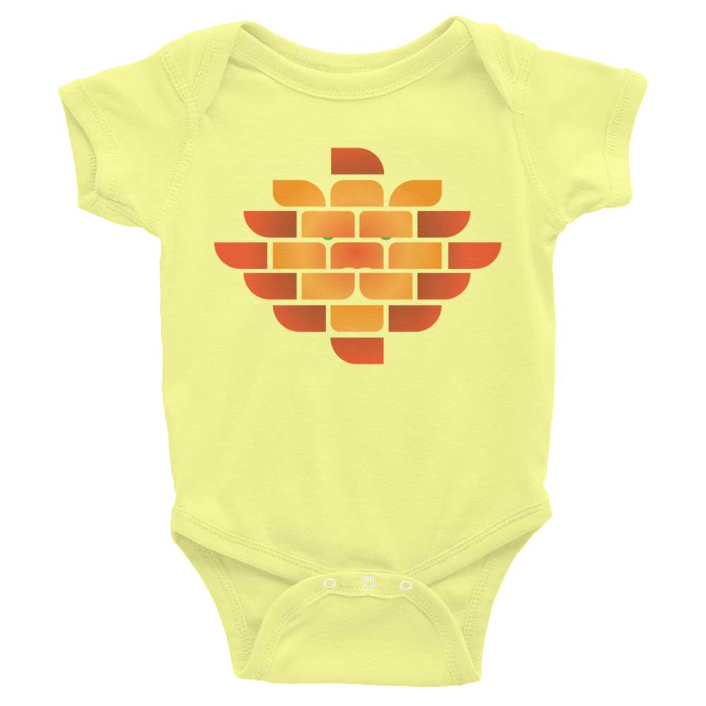 Brick Lion Baby Onesie - Lemon