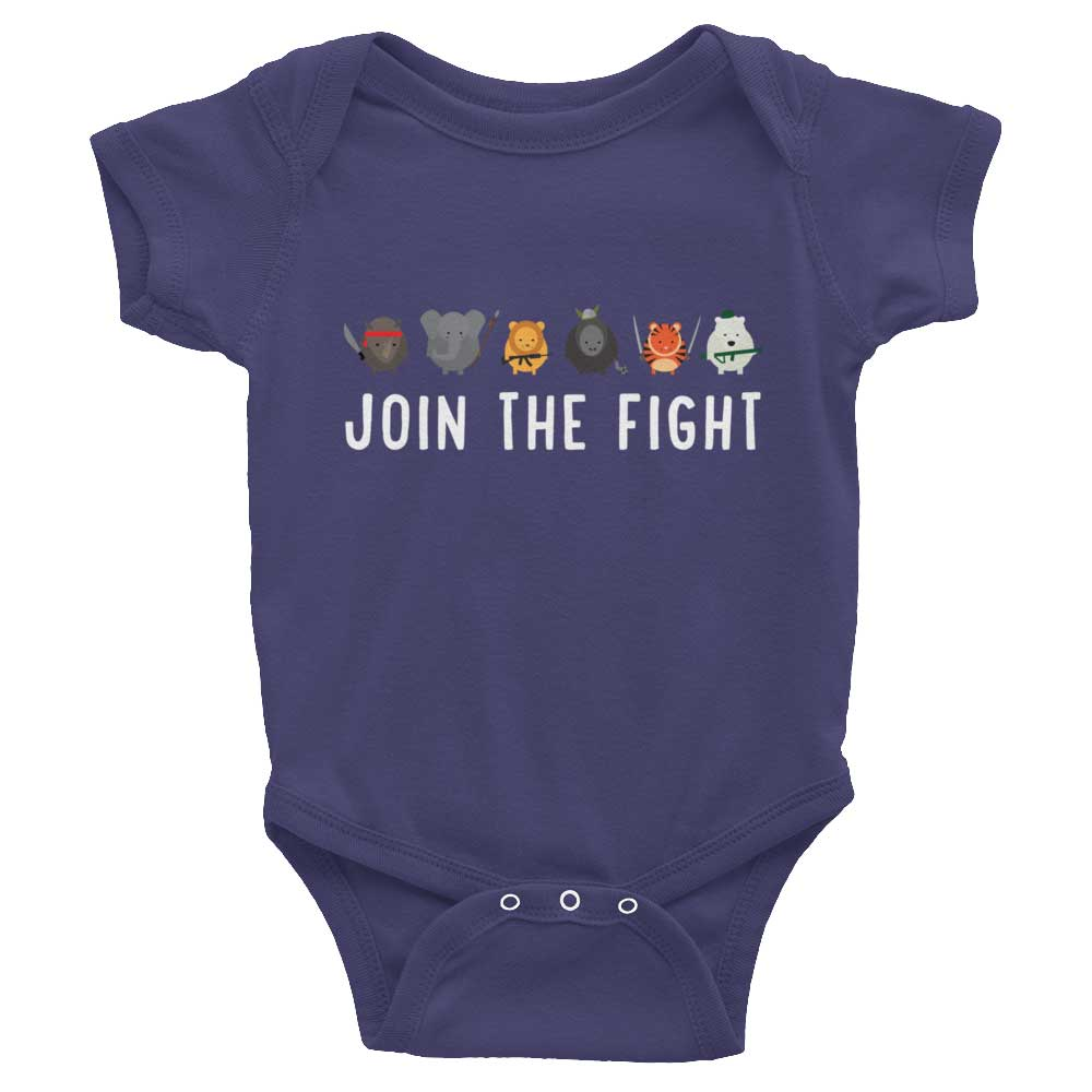 Join the Fight Baby Onesie - Navy