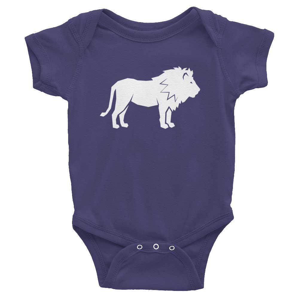 Lion Habitat Baby Onesie - Navy