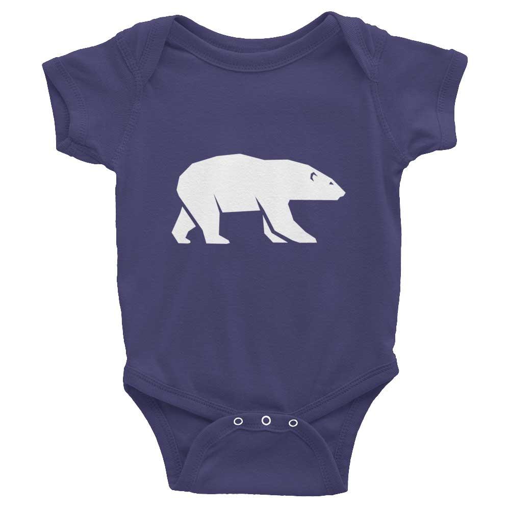 Polar Bear Habitat Baby Onesie - Navy