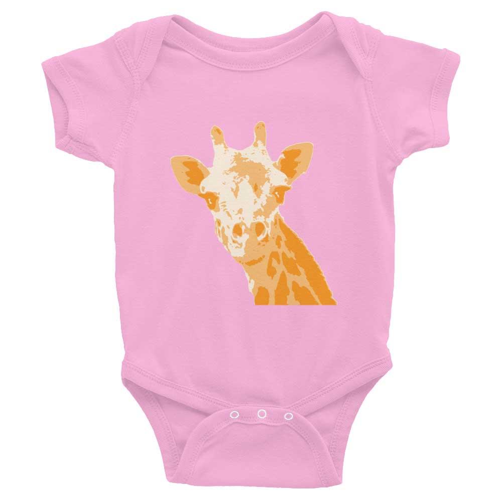 Giraffe Baby Onesie - Pink