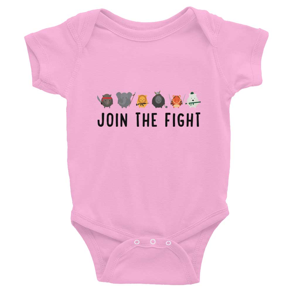 Join the Fight Baby Onesie - Pink