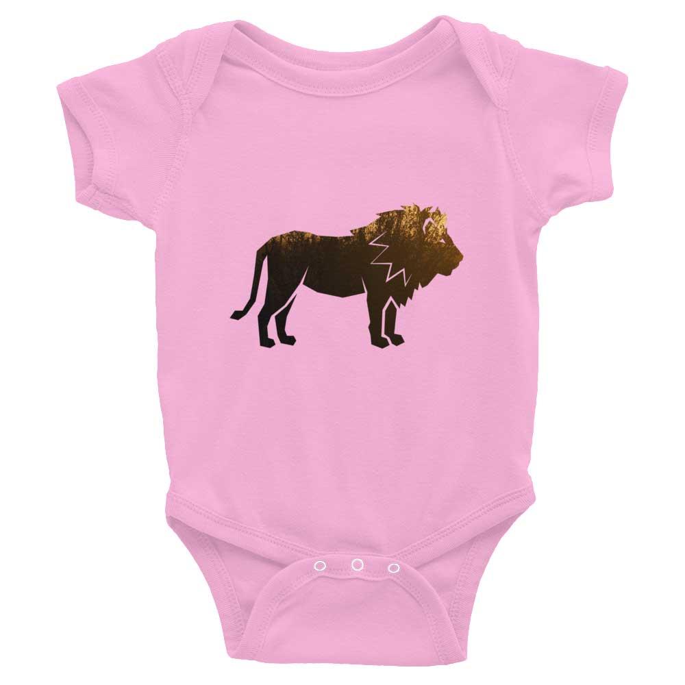 Lion Habitat Baby Onesie - Pink