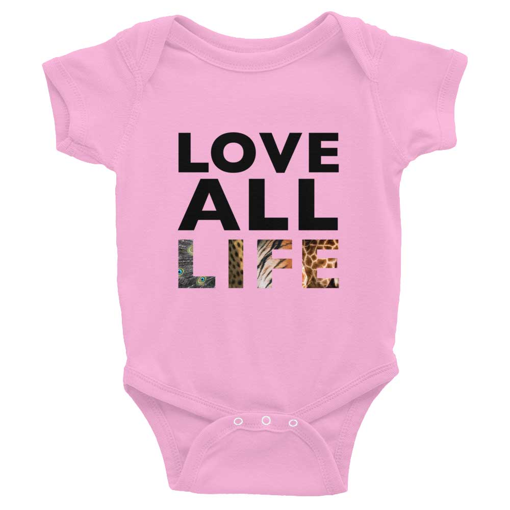 Love All Life Baby Onesie - Pink