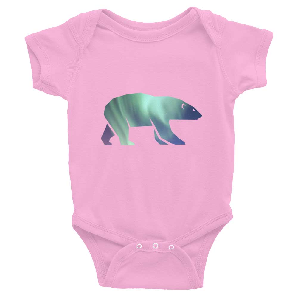 Polar Bear Habitat Baby Onesie - Pink