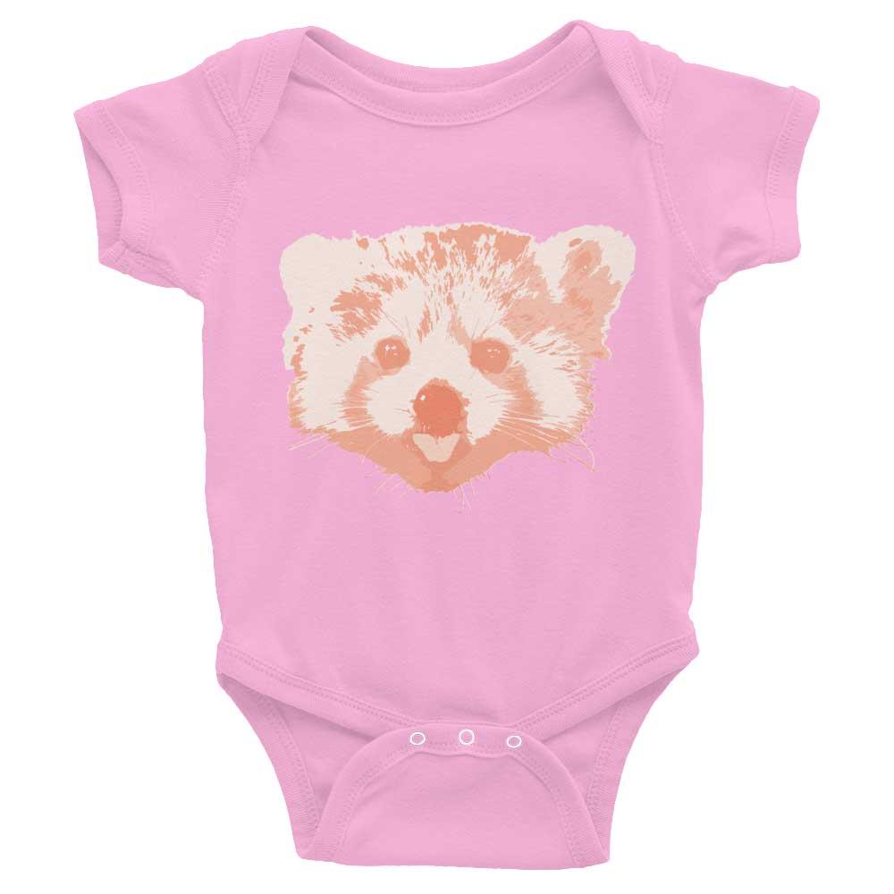 Red Panda Baby Onesie - Pink