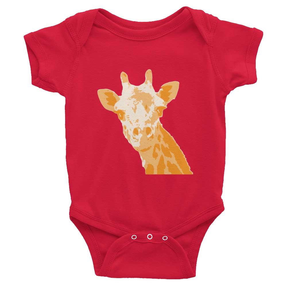 Giraffe Baby Onesie - Red
