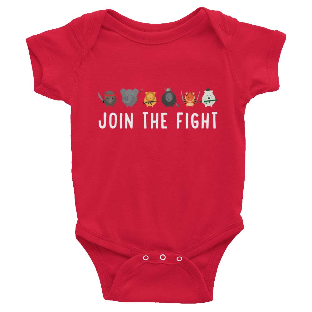 Join the Fight Baby Onesie - Red