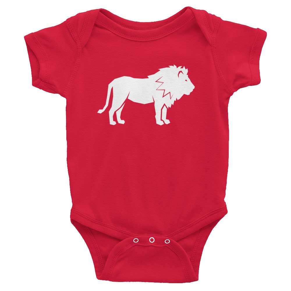 Lion Habitat Baby Onesie - Red